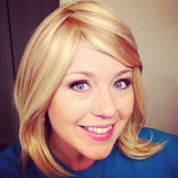 Back to Blonde! Stephanie wearing her new wig. (December 2012)